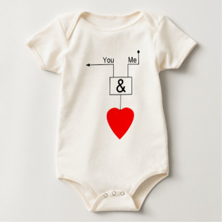 You And Me Love Nerd Edition Digital Logic Baby Bodysuit
