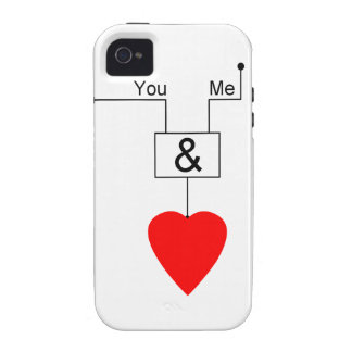 You And Me Love Nerd Edition Digital Logic Case-Mate iPhone 4 Covers