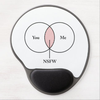 You and Me NSFW Venn Diagram Gel Mouse Pad