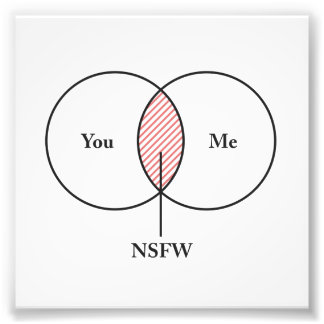 You and Me NSFW Venn Diagram Photograph
