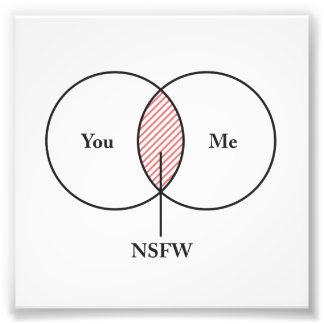 You and Me NSFW Venn Diagram Art Photo