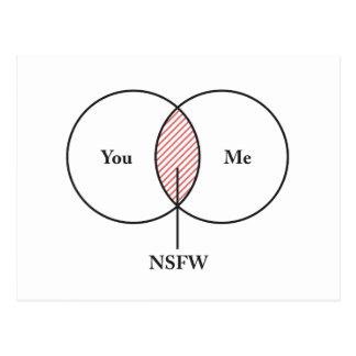 You and Me NSFW Venn Diagram Postcard