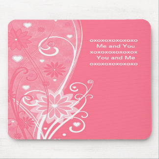 You and Me - Pink Girly Mouse Pad - Fem - Soft