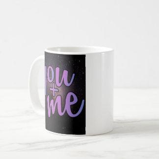 You and me, start night sky coffee mug