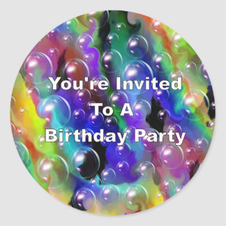 You're Invited To A Birthday Party Classic Round Sticker
