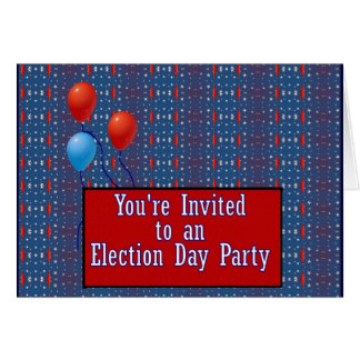 You're Invited to a Election Day Party Greeting Card