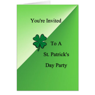 You're Invited To A St. Patrick's Day Pa Greeting Card