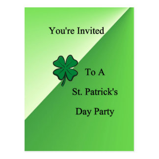 You're Invited To A St. Patrick's Day Pa Postcard