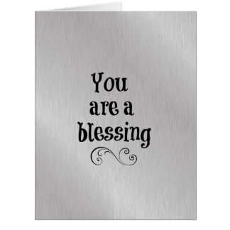 You are a Blessing Card