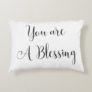 You are a Blessing, Inspiring Message Decorative Cushion