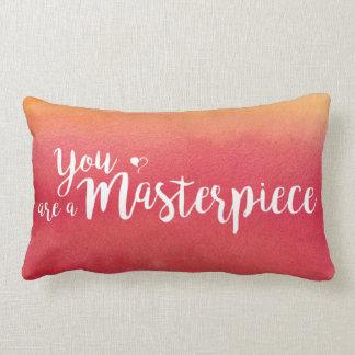 You are a Masterpiece Orange Lumbar Pillow
