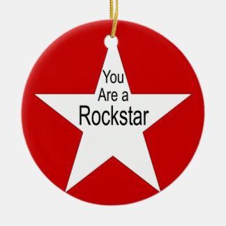 You are a rockstar ceramic ornament