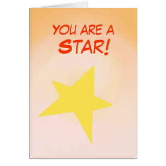 You are a Star, Congratulations Card customise
