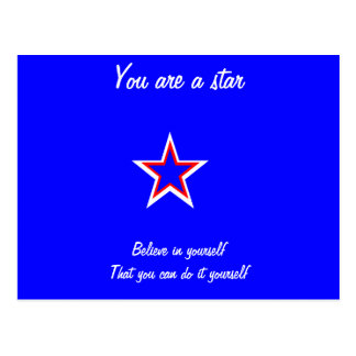 You are a star postcards-self confidence postcard