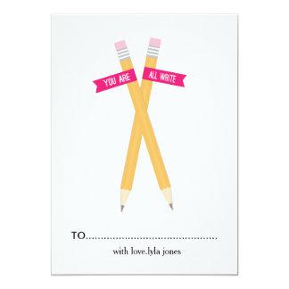 You are All Write Valentine day Card 13 Cm X 18 Cm Invitation Card