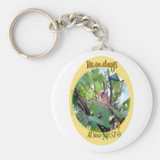 You Are Always AT Your Best (Nest)! Basic Round Button Key Ring