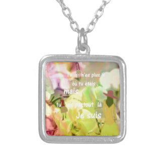 You are always with me even you are not. silver plated necklace