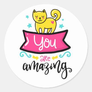 You are Amazing Kitty Cat Sticker Set
