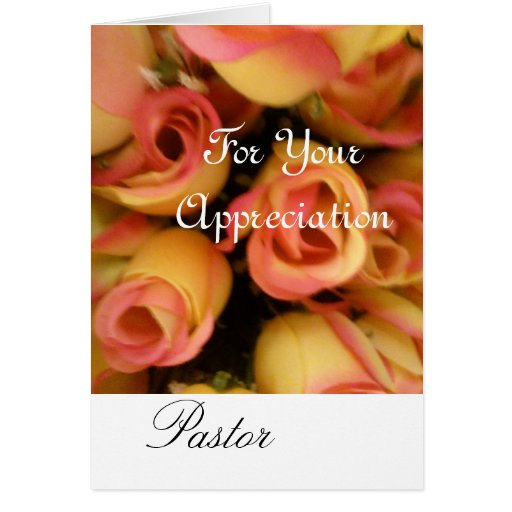 You Are Appreciated Pastor Greeting Card