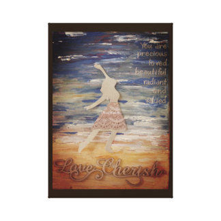 You are beautiful and radiant. canvas print