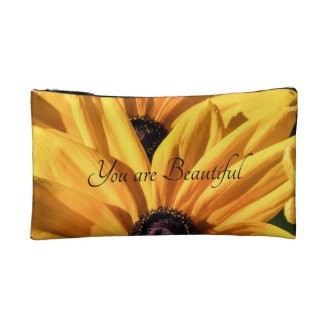 You are Beautiful Black Eyed Susan Cosmetic Bag