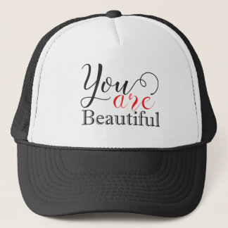 You Are Beautiful Inspiring Motivational Quote Trucker Hat