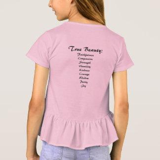 You are Beautiful True Beauty Girls' Ruffle Tshirt
