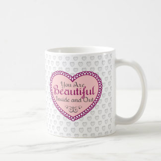 You Are Beautiful Word Art Quotes Coffee Mugs