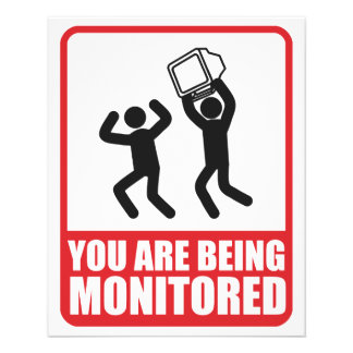 You Are Being Monitored Custom Flyer