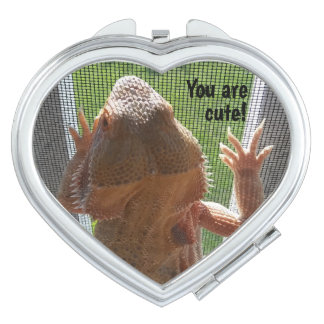 You are Cute Bearded Dragon Photo Design Compact Mirrors
