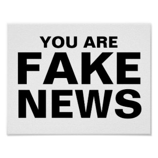 You Are Fake News Poster