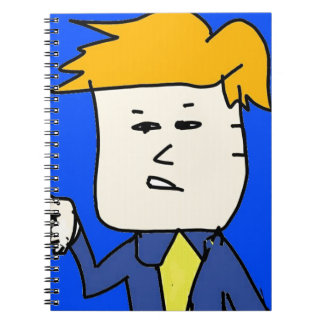 you are fired cartoon boy notebook