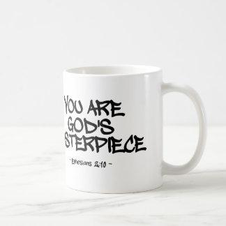 You Are God's Masterpiece Ephesians Quote Basic White Mug
