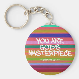 You Are God's Masterpiece Ephesians Quote Key Ring
