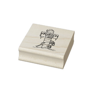 You Are HERE Christmas Rubber Stamp