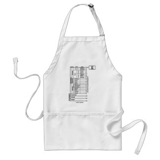 You Are Here (Geological Age Earth's History) Standard Apron