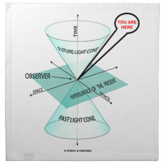 You Are Here Light Cone Space Time (Physics) Printed Napkin