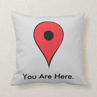 You Are Here Map Pin Cushion