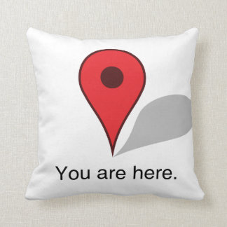 you are here pillow. cushion