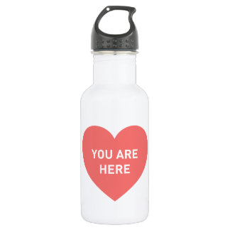 You are here red heart 532 ml water bottle