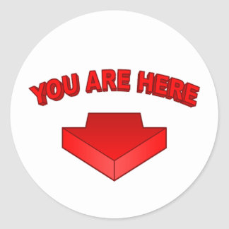 You Are Here - Round Sticker