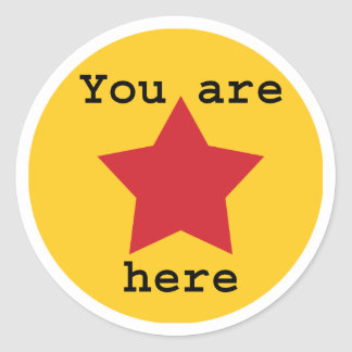 You are here stickers