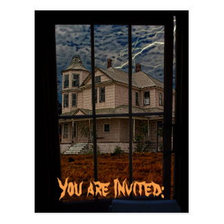 YOU ARE INVITED HAUNTED HOUSE POSTCARD