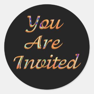 You Are Invited Round Sticker