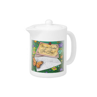 You Are Invited tea pot