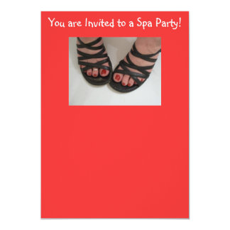 You are Invited to a Spa Party! 13 Cm X 18 Cm Invitation Card