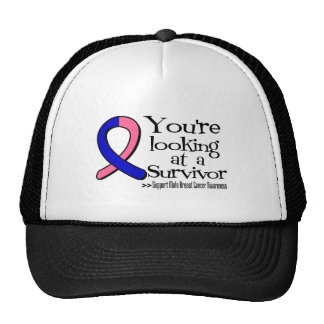 You are Looking at a Male Breast Cancer Survivor Cap