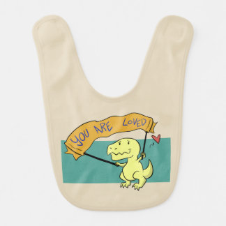 You Are Loved Baby T-Rex Bib