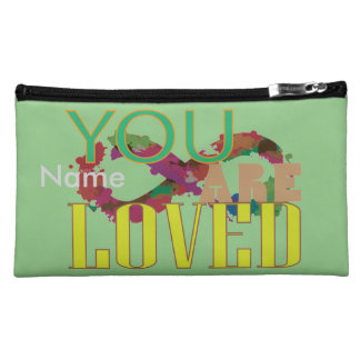 You are loved makeup bags
