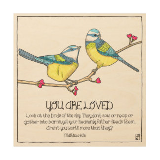 You Are Loved Birds Wood Wall Art